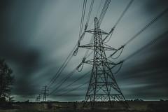 connected... (Jess Feldon) Tags: eerie pylons landscape countryside gloucestershire sky clouds longexposure leebigstopper jessfeldon lookslikefilm wideangle