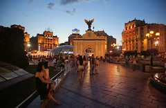 Independence Square is meeting place for the inhabitants of Kyiv (B℮n) Tags: київ kyiv kiev ukraine киев kiëv oekraïne dnjepr dnipro brovarskyiavenue hidropark viewpoint historical treasures river green park bridge rusanivskastrait dnieper eternalglorypark brovary road highway traffic cars 50faves topf50 maidan euromaidan orange revolution independence square europe centre history election president viktor janoekovytsj україна globus monument independencemonumentмонументнезалежності монументнезалежності ukrainehotel готель готельукраїна window bedroom євромайдан jevromaidan 100faves topf100