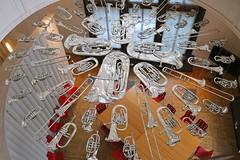Concert was OK but the brass section sounded a little flat (adamsgc1) Tags: victoriaandalbert museum installation breathless corneliaparker brass musicalinstruments flattened foyer va london