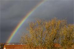 The Rainbow (:: Blende 22 ::) Tags: rainbow sun rain storm tree clouds roof springtime canoneos5dmarkiv canonef2470mmf28liiusm weather cloudy church eichsfeld eic landkreiseichsfeld heilbadheiligenstadt deutschland germany eberhard
