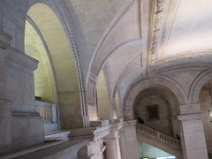 New York Public Library Entrance Hall Lobby 3620 (Brechtbug) Tags: new york public library entrance hall lobby 5th ave facade city interior stairs staircase stone marble 2019 nyc 03122019 art architecture designed by artist sculptor paul wayland bartlett carved the piccirilli brothers was two lions main branch stephen a schwarzman building consolidation astor lenox libraries beaux arts design style