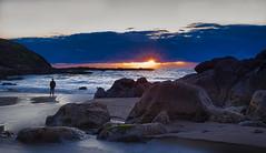 March sunset on the Oregon Coast (Ray Mines Photography) Tags: usa pacific twilight evening ngc oregon coast sunset sea ocean beach rocks cliffs
