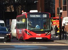 AB 8858 - YX16OAL - ELEPHANT & CASTLE - THU 17TH JAN 2019 (Bexleybus) Tags: ec elephant and castle underground station london road newington causeway abellio adl dennis enviro 200 mmc tfl route c10 8858 yx16oal