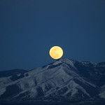 Full Moon Rising on the Vernal Equinox over Flag Mountain thumbnail