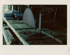 The saw (Geir Bakken) Tags: instax instant largeformat 4x5 4x5camera saw sawmill shed decayed muld analog analogue analogphotography film filmisnotdead filmphotography filmcamera ilovefilm colorfilm vintage vintagecamera norway