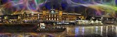 Amsterdam - estación central (Antonio-González) Tags: amsterdam estación central puerto noche nocturna photoshop