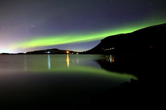 Aurora Iceland 05.04.2019 #2 (ragnaolof) Tags: auroraborealis northernlights iceland reykjavík mosfellsbær hafravatn lake night reflection