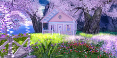 Snug as a Bug (AlyceAdrift) Tags: pastel nature magical spectral safe cuddle snuggle playhouse play house cottage bydorian colorful country magic imagine pretend pretty home shabby