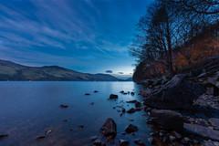 DSC_4405: Moon lit Loch Earn, Scotland (Colin McIntosh) Tags: lochearn scotland nikon d610 16mm f35 fisheye manual focus ngc