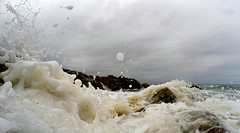 Agitated (OzzRod) Tags: gopro hero4silver16mmequivf28 wave swash surge foam rocks surf cuttagee