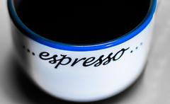 Mmmm.... coffee...... (1 of 3) (+Pattycake+) Tags: macro macromondays coffee brew 4feb18 achromaticlens macrolens primelens blue cup closeup rim