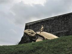 Bronze tortoise sculpture, Citadelle, Namur, Belgium (Paul McClure DC) Tags: namur namen belgium belgique wallonia wallonie feb2018 historic architecture castle citadel modern sculpture ardennes