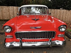 """Is This Damn Winter Over Yet?"" (Halvorsong) Tags: old olsschool car carshot color red hotrod usa america americana classic vintage art composition contrast halvorsong photosafari explore discover transportation the50s closeup fun"