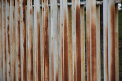 Rusty lines (Damien Moulard) Tags: rust fence metal white brown shades
