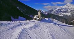 FRANCE - Alps (Jacques Rollet (very little available)) Tags: montagne mountain snow neige paysage landscape église chapelle church chapel tree arbre forêt forest