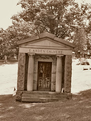 E. Arden Calvert (George Neat) Tags: monongahela cemetery grave tombstone heasdstone mausoleum sepia building structures stone washington county pa pennsylvania georgeneat patriotportraits neatroadtrips outside