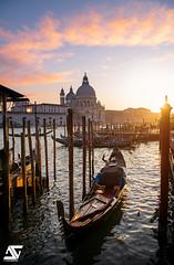 Golden Hour (A.G. Photographe) Tags: ag agphotographe venise venice venezia italie italy italia gondole goldenhour d850 nikon nikkor 2470vr basiliquesantamariadellasalute