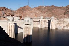 Hoover Dam, 1 (jbp274) Tags: hooverdam cliffs landscape lake water lakemead dam structure road