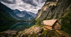 The Boathouse (hpd-fotografy) Tags: alpes berchtesgaden gameofthrones königssee obersee boathouse bridge clouds fairytale forest house hut landscape light mountain nature outdoor panorama water weather