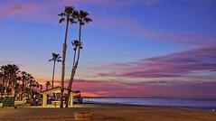 Sunrise 8-1-28-19 (rod1691) Tags: oceanside california strand beach palms color dawn sand surf ocean clouds