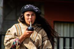 Coyhaiquina Tomando Mate (pocket.photographs1) Tags: chile girl beautiful coyhaique