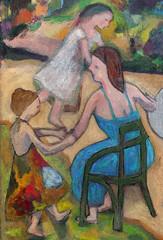 Jardin du Luxembourg crop 1 PE (danielborisheifetz) Tags: art oil oilpainting painting female