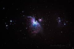 Orion's Nebula (Dan and Holly) Tags: night deepsky maitreya stars naturephotography deepspace natur orion danandhollythompson astrophotography blue nightphotography astronomy nightimages nebula green danandhollycom pink