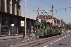 1978-04, Basel, Messeplatz (Riehenring) (Fototak) Tags: tram strassenbahn bvb basel switzerland muba 190 1193 1209