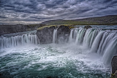 Hot soup? (Wim van de Meerendonk, loving nature) Tags: godafoss iceland water waterfall waterfalls clouds cloud dynamic falls landscape mountain nature outdoors outdoor rock rocks river sony sky scenic wimvandem wild astoundingimage golddragon daarklands