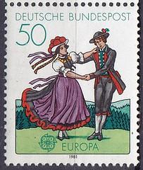 Deutsche Briefmarken (micky the pixel) Tags: briefmarke stamp ephemera deutschland bundespost europamarke folklore tracht costume schwarzwald