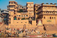 Varanasi, India (Ninara) Tags: hindu india varanasi holycity ganges ghat boatride water sadhu boat steps uttarpradesh kashi benares meerghat ganpati
