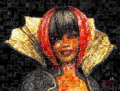 woman-634352_1920_created_using_Artensoft_Photo_Collage_Maker (SØS: Thank you for all faves + visits) Tags: black collage color dark digitalart digitalartwork art kunstnerisk manipulation solveigøsterøschrøder artistic female girl gold mosaic photocollage 100views