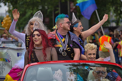 Parade Convertible Ride (Scott 97006) Tags: parade ride car flamboyant waving smiles happy crowd costumes