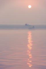 0953 Ganges Morning Haze II (Hrvoje Simich - gaZZda) Tags: outdoors landscape waterscape sun mist fog haze people boat water river ganges varanasi india asia travel nikon nikond750 sigma150500563 gazzda hrvojesimich