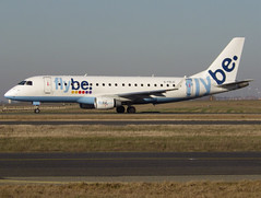G-FBJC, Embraer ERJ-175STD (ERJ-170-200), c/n 17000328, FlyBe, CDG/LFPG 2019-02-15, taxiway Delta. (alaindurandpatrick) Tags: cn17000328 gfbjc erj embraer embraerregionaljet erj175 embraererj175 jetliners airliners be bee jersey flybe airlines cdg lfpg parisroissycdg airports aviationphotography