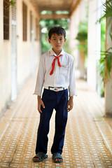 school boy Vietnam Ho Chi Minh (tonywoodphoto) Tags: vietnam 122010 school boy hochiminh saigon portraits portraiture people environmentalportrait
