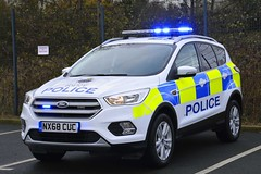 NX68 CUC (S11 AUN) Tags: cleveland police ford kuga 4x4 rural patrol vehicle irv incident response 999 emergency nx68cuc
