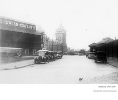 circa  1930  Broadway - McEwan coal storage opposite Hudson Navigation docks (albany group archive) Tags: old albany ny photo photos photograph pciture pictures historic hidtorical history vintage