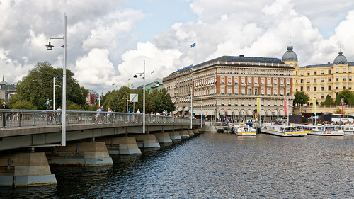 Strömbron bridge connecting Gamla Stan and Norrmalm