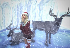 Call me mad but I miss snow (sunny.hanly) Tags: secondlife sl virtualworld game fashion originals art outfit clothes dress gem gems hair long blond aviglam choker maitreya lara photography peace avatar digitalart digitalphotography mesh bento laq gaia winter snow deaddollz caribou