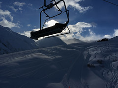 Sedrun (Priska B.) Tags: sedrun dieni skiarena skipiste sessellift winter januar schnee himmel graubünden bündnerland