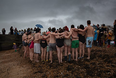 a portrait of humanity......Whitstable (stocks photography.) Tags: michaelmarsh aportraitofhumanity whitstable beach seaside coast newyearsdayswim