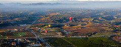 Floating over vineyards (Igor_Star) Tags: baloon hotairbaloon temecula california panorama pano fujifilm fuji landscape vineyards vineyard flight hotair air igorstar colorful travel xt2