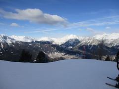The Italian Alps (gwackamo) Tags: alps italy bormio skiing red blue snow slope