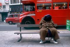 HomelessMan_Bench1 (hoffman) Tags: bag bench bus depression homeless homelessness horizontal insanity madness mentalillness outdoors pavement poverty psychology schizophrenia schizophrenic seat sidewalk sleeping street young 181112patchingsetforimagerights davidhoffman wwwhoffmanphotoscom london uk