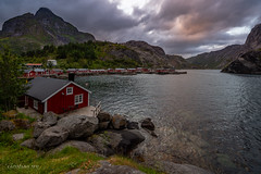 End of day at Nusfjord village (Norway) (christian.rey) Tags: nusfjord nordland norvège no lofoten islands paysage landscape seascape evening soir sony alpah a7r2 a7rii 1635 rorbu saariys quality pictures gallery saariysqualitypicturesgallery