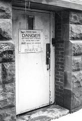 Danger! (Bill Smith1) Tags: believeinfilm billsmithsphotography canonnewf1 fdn50f14lens hc110b heyfsc kodaktrix4001600 toronto