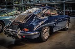 1962 PORSCHE 356 B Carrera 2000 GS - rear view (Peters HDR hobby pictures) Tags: petershdrstudio hdr classiccar porsche car blue wheels auto klassiker blau oldtimer sportwagen