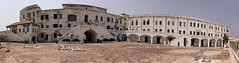 Cape Coast Castle in Ghana (inyathi) Tags: africa westafrica ghana capecoastcastle capecoast castles forts fortresses slaves slavery slavetrade panoramamaker panoramas