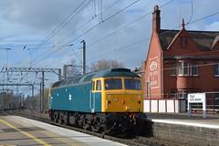 "British Rail Blue Liveried Class 47/8, 47614 (37190 ""Dalzell"") Tags: br britishrail railblue brush sulzer type4 duff spoon class47 class478 47614 d1733 47141 47853 lsl locomotiveserviceslimited northwestern wigan"